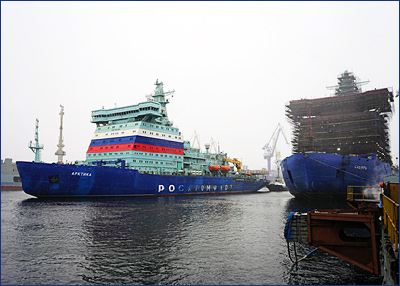 Атомный ледокол «Арктика» успешно завершил первый этап ходовых испытаний.
