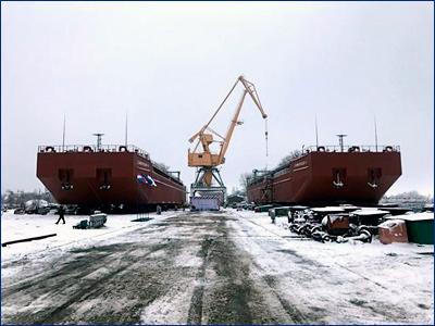 «Нефтефлот» передал заказчику две сухогрузные баржи проекта RDB12 «Самарская – 1» и «Самарская – 2»