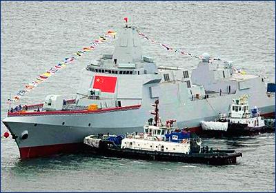 В Китае принят на вооружение головной эсминец проекта 055