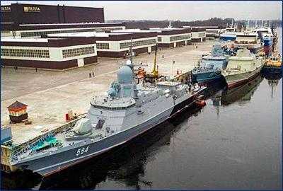 Новый ракетный корабль с «Калибрами» приступил к швартовным испытаниям