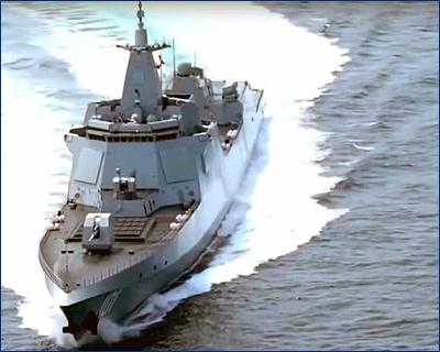 Sohu: Китай спустил на воду достойного конкурента американским эсминцам Zumwalt