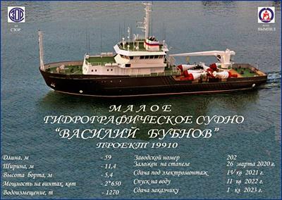 Для ВМФ России заложено гидрографическое судно «Василий Бубнов»