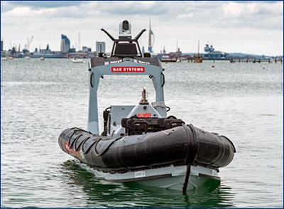 Британский флот начал испытания надводного беспилотника общего назначения
