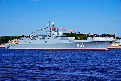 На фрегате «Адмирал флота Касатонов» поднят Андреевский флаг