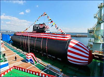 Япония спустила на воду усовершенствованную модель одной из лучших субмарин в мире