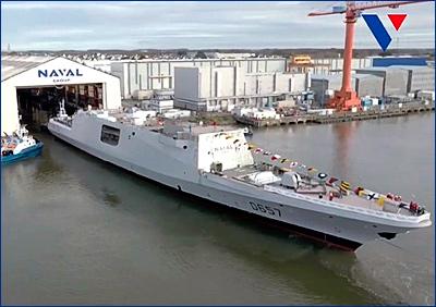 Франция спустила на воду фрегат Lorraine