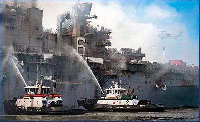Пентагону придется списать пострадавший от пожара УДК «Бономм Ричард»