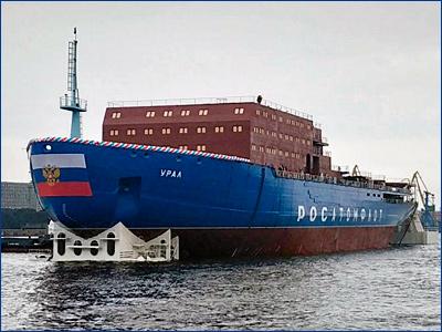 Возгорание на строящемся ледоколе «Урал» обошлось без последствий