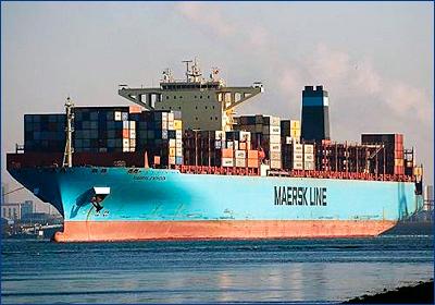 Контейнеровоз Maersk Eindhoven потерял несколько сотен контейнеров в Тихом океане