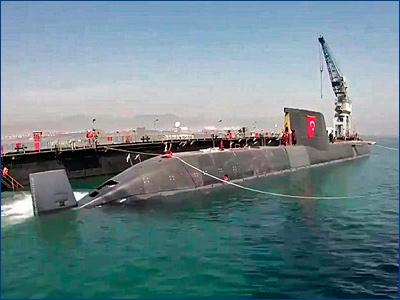 В Турции спустили на воду первую подлодку с анаэробным двигателем