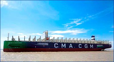 CSSC передала CMA CGM шестого гиганта, работающего на СПГ