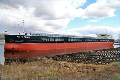 Завод «Красное Сормово» спустил на воду сухогруз «Альфа Гелиос»