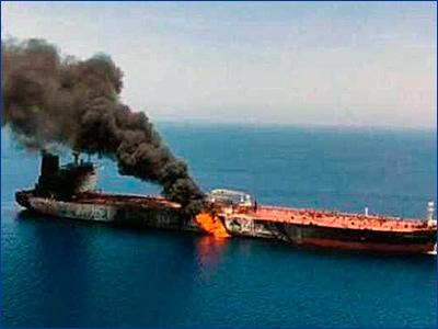 Беспилотники-инкогнито атаковали израильский танкер