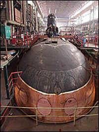 подводная лодка в цех