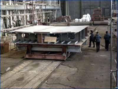 Закладка киля экологического судна проекта RT29 на Сосновском заводе