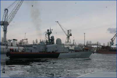 ЧСЗ закончил ремонт корвета «Приднепровье»