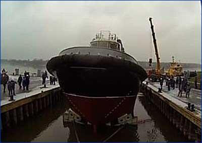 «Пелла» спустила на воду очередной буксир проекта 90600
