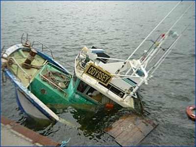 Проводится процессуальная проверка по факту затопления в бухте «Золотой Рог» рыболовецкого судна